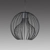 Small Black Wire (50cm X 50cm) Icaro Ball Hanging Lamp With White Diffuser