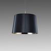 Black Reeded Perspex 'ge' Drum Hanging Lamp