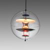 Lrg Clear & Mirrored Plastic 'vp' Globe H/Lamp