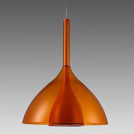 Orange Perspex ''Floob'' Hanging Lamp