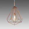 Medium Copper Diamond Hanging Lamp