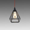 Black Metal Wire Diamond Hanging Lamp