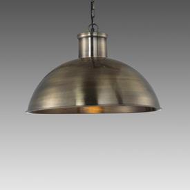 "Antique Brass ""Spitalfield"" Dome Hanging Lamp"
