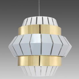 """White & Brass """"Comb"""" Hanging Lamp"""