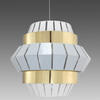 White & Brass 'comb' Hanging Lamp
