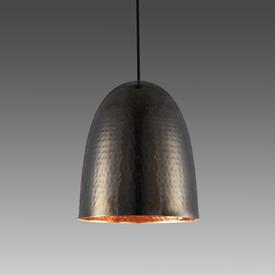 Black Nickel Hammered Large Stanley Hanging Lamp
