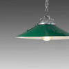 Large Green Metal Industrial Coolie Hanging Lamp
