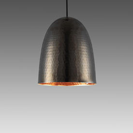 Small Black Nickel Hammered ''Stanley'' Hanging Lamp