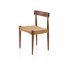 Rosewood With Raffia Seat Dining Chair  (, Vintage)