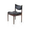 Danish Rosewood Dining Chair With Black Leather Seat Pad  (, Vintage)