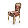 Gilt Single Chair With Red Silk Upholstery  (, Vintage)