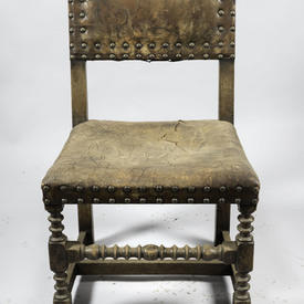 Wood & Iron Studded Chair