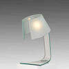 Clear & Sandblasted Curved Glass L'astra Desk Lamp