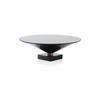 Marble Based Gold & Black Glass 'flute' Coffee Table