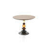 Medium Walnut & Marble Murano Glass 'pandora' Lamp Table