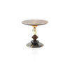 Small Walnut & Marble Murano Glass 'pandora' Lamp Table (45 Cm X 40 Cm H)