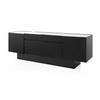Large Rect Black Lacq 'kubit' Sideboard With White Marble Top