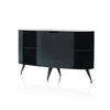 Black Steele Oval Sputnik Sideboard
