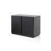 Black Lacq. 2 Door Sideboard