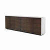 American Black Walnut Ali Ribbed 6 Door Sideboard