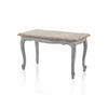 Grey Cabriole Leg Coffee Table With Pale Wooden Ornate Top  (, Vintage)