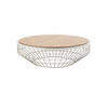 Circ Putty Wire Coffee Table With Walnut Top