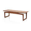 Rect Teak Coffee Table With Balanced Top