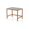 Medium Rect. Teak Retro Lamp Table With Black Top (44 Cm H X 55 Cm X 39 Cm) (Also Available In 2 Other Sizes, Vintage)