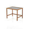 Small Rect. Teak Retro Lamp Table With Black Top (41 Cm H X 50 Cm X 37 Cm) (Also Available In 2 Other Sizes, Vintage)