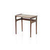 Small Rosewood Lipped Nest Table (44 Cm H X 46 Cm X 29 Cm) (Also Available In 2 Other Sizes, Vintage)