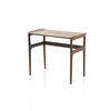 Medium Rosewood Lipped Nest Table (47 Cm H X 53 Cm X 31 Cm) (Also Available In 2 Other Sizes, Vintage)