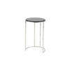 Medium Circular Black Marble Lamp Table On Thin Chrome Base (57 Cm H X 37 Cm) (Also Available In 2 Other Sizes)