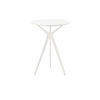 White Metal Tri Leg 'tree' Lamp Table With Circ.White Top (56 Cm H X 40 Cm)