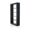 Black Lacquer Cyrus Open Shelf Unit
