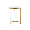Large  Gold Lamp Table With Mirrored Top (56 Cm H X 41 Cm)