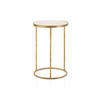 Medium Gold Lamp Table With Mirrored Top (52 Cm H X 34 Cm)