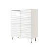 White Wooden Tide 4 Door Cabinet