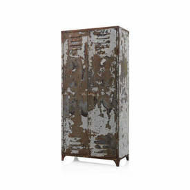 Grey Distressed Painted Double Locker