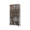 Grey Distressed Painted Double Locker  (, Vintage)