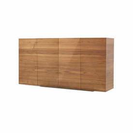 Walnut Wood & White Sideboard