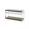 Rosewood, Chrome & Glass 'merrow' Tv Stand On Castors