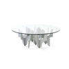 Miniforms Circ Glass Tavolino Coffee Table On Silver Metal Abstract Base
