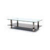 Rs Rect Clear & Black Glass Coffee Table
