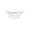 Miniforms Circ Glass Coffee Table On Chrome Abstract Base