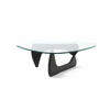 Black Noguchi Tribeca Coffee Table With Curved Glass Top