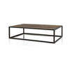 Large Rect.Metal Coffee Table With Plank Top (160 Cm X 100 Cm X 42 Cm H)