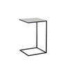 Black Metal & Grey Enamel 'laurits' Lamp Table (35 Cm X 35 Cm X 56 Cm H)