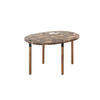 Tall Brown Marble 'tuk' Coffee Table On Smoked Oak Legs