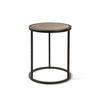 Small Indi Black Metal Circ Lamp Table With Bronze Top