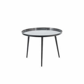"Circ Dark Grey Metal ""Jelva"" Lamp Table"